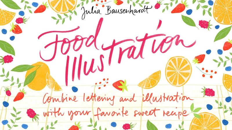 New Skillshare class about food illustration out now!