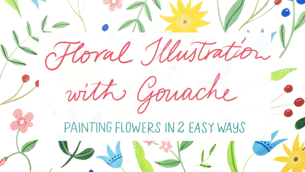 learn how to paint flowers in two easy ways floral illustration