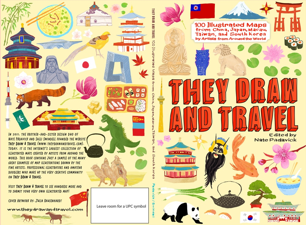 They Draw And Travel – East Asia | Julia Bausenhardt Illustration +