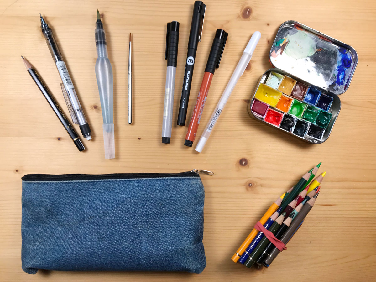 Getting Started With Nature Journaling: Assembling Your Sketching Toolkit – Choosing Pens, Watercolors and Colored Pencils (Part 2)