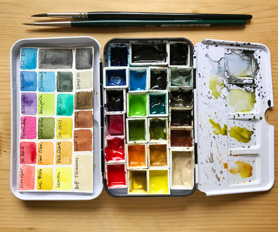 How To Choose A Great Watercolor Palette – My Current Watercolor Field Kit