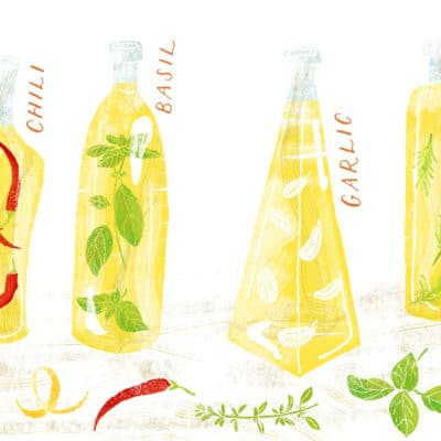 Olive oil with herbs and spices